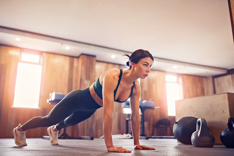 Burpees exercise a huge range of muscles