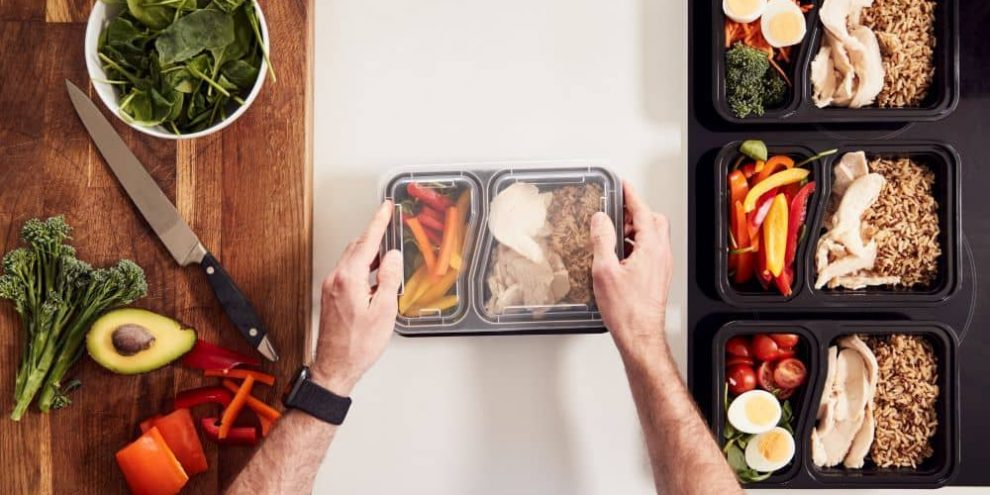 Prepping meals means you'll always have a healthy dish to enjoy.